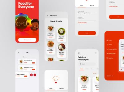 Food Delivery App UI design design icon ux ui branding graphic design
