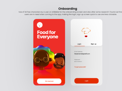 Food Delivery App UI design Login Page design logo ui ux uiapp icon branding graphic design