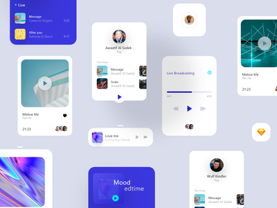 Welcome to Trusted Design Agency  ⭐⭐⭐⭐Orizon Music Player UI-Kit illustration logo icon uiapp ui ux design branding motion graphics animation graphic design