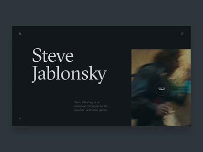 Steve Jablonsky Website Concept editorial typogaphy concept jablonsky steve transformers movie webdesign ui