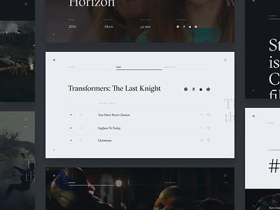 Steve Jablonsky Website Concept webdesign interface soundtrack score movie jablonsky steve editorial ux ui