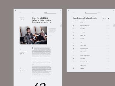 Steve Jablonsky Website Concept - Detail typography editorial editorial design interface webdesign uiux ui