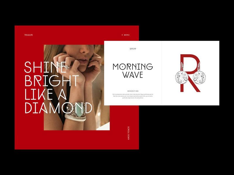 Shine bright like a diamond learn class course online jewel shop hierarchy grid editorial layout editorial editorial design ui minimalistic