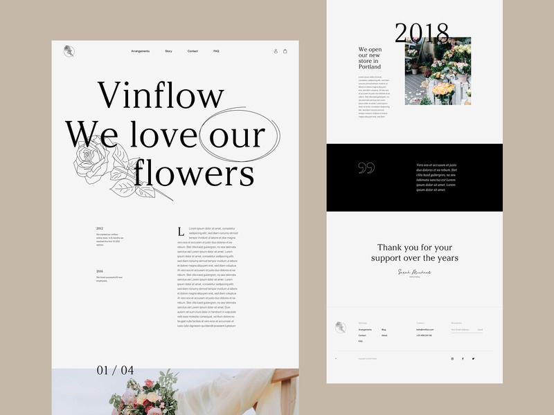 Vinflow Story - [Online Course] course class flowers online in dubai flowers minimalistic editorial typogaphy gridsystem grids layouts