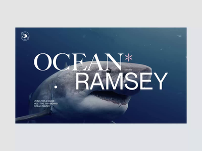 Ocean Ramsey sharks ramsey ocean editorial typography interaction webdesign interface ui