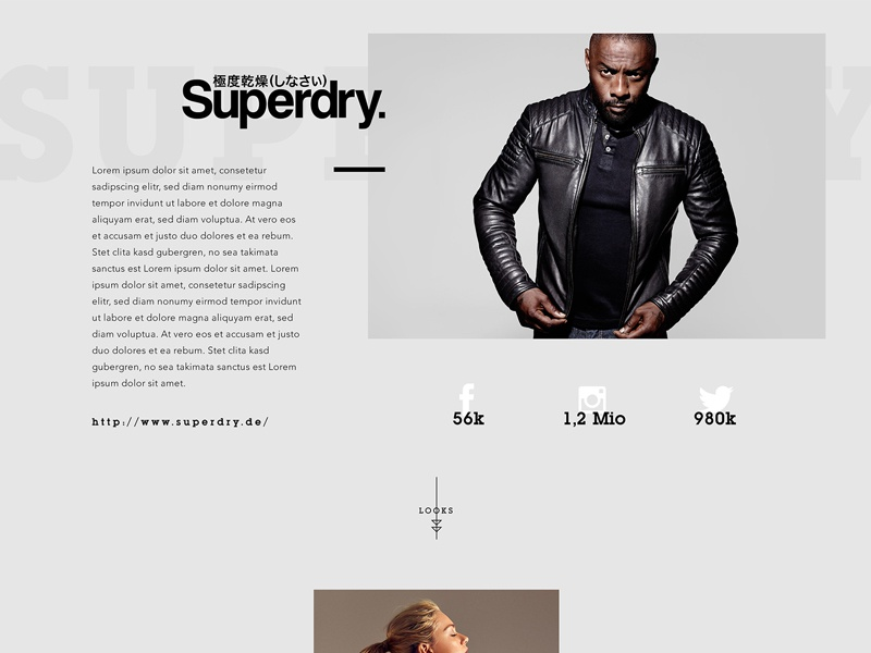 Editorial Layout // Day 2 daily inspire interaction landing minimalistic ui ux web user interface webdesign site