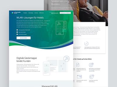 Unitymedia Enterprises Wlan redesign ui unitymedia ux website