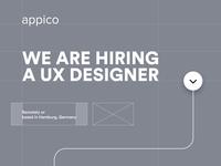 We are hiring a UX Designer