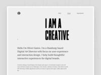 Portfolio Relaunch 2018 - About Page