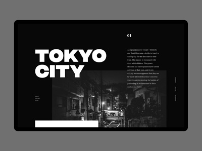 Tokyo City  // Day 68 website editorial magazine fashion site webdesign interface user web ux ui minimalistic landing interaction typography daily