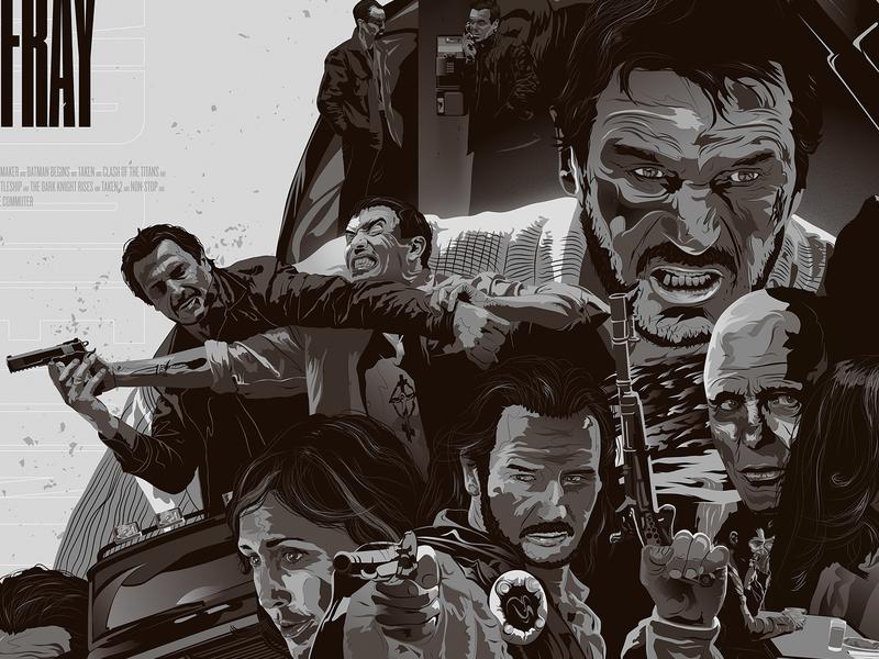 Liam Neeson Tribute Artwork poster movies vector adobe illustrator artwork tribute neeson liam