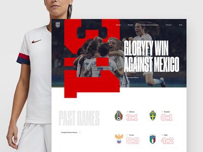 U.S. Women's National Soccer Team Concept - Home