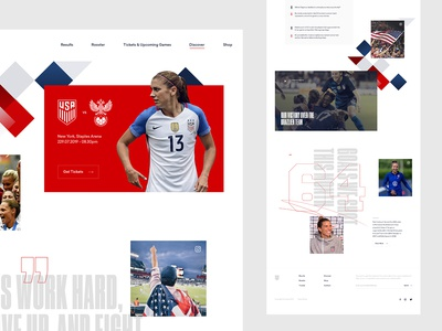 U.S. Women's National Soccer Team Concept - Discover