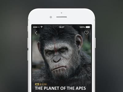Online Movies & TV App popular watch trailer imdb cinema video movie iphone ios app ux ui