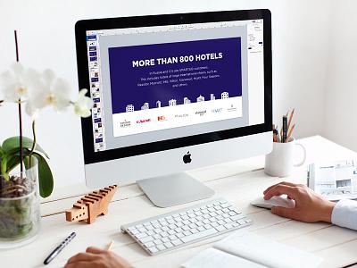 Sales Presentation minimal clean sales hotel brand powerpoint slide slides design keynote presentation