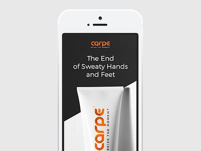 Carpe Website web minimal clear header product website adaptive mobile iphone