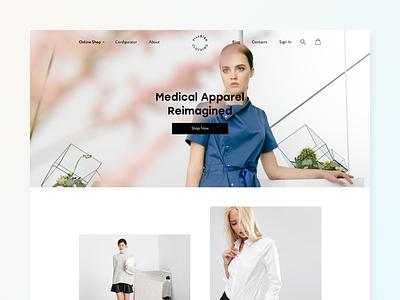 Pillbird Clothing web clean white shop minimal medical e-commerce adaptive
