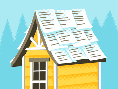 Roof Warranties Protect Your Home bright playful custom roof home house texture illustration