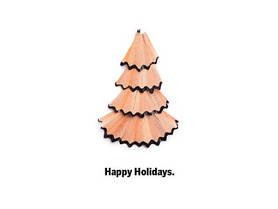 A Very Graphite Christmas holiday card graphite graphite creative christmas tree tree pencil shavings shavings sharpenings pencil christmas card christmas