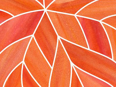 Leaf Love: closeup fall monoprint screen printing silkscreen printmaking texture autumn leaf park national park foundation national park illustration