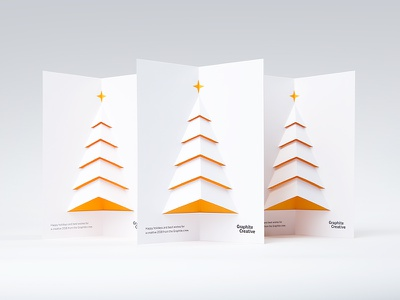 Merry & Bright Pop-up Card paper engineering tree graphite christmas tree holiday card holiday pop up popup christmas card christmas graphite creative card