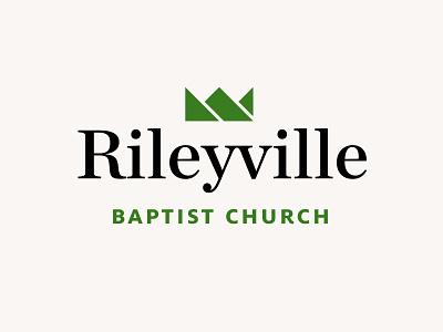 Rileyville Baptist Church logo peak religious valley shenandoah virginia baptist mountains mountain serif typography type green identity brand branding logo crown christian church
