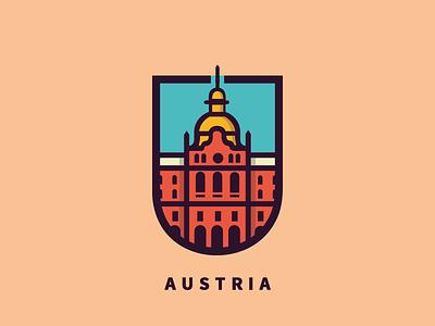 Austria logo design logo concept logo patch badge austria