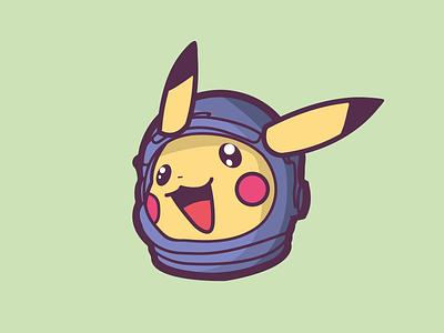 Pikanaut? illustrator illustration pokemon illustration pokemon go pokemon space astronaut pikachu