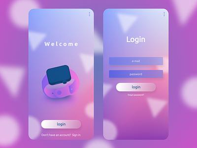 Login Page Design Concept ui illustration ux icon app typography vector branding logo design