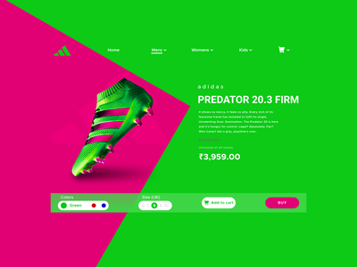 E-Commerce Shop (Single Item) UI design Concept ux vector ui typography logo illustration icon design branding app