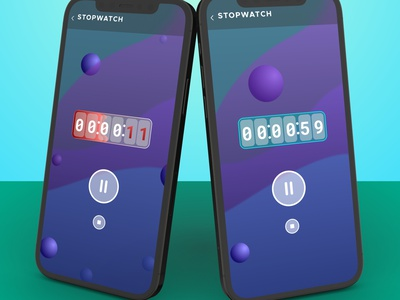 Stopwatch UI design concept ui ux design vector typography logo illustration icon branding app