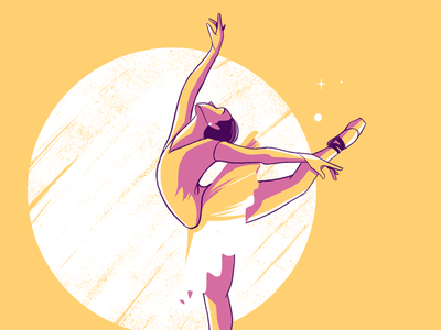 Let's Dance minimal dance ballet art women editorial editorial illustration illustration