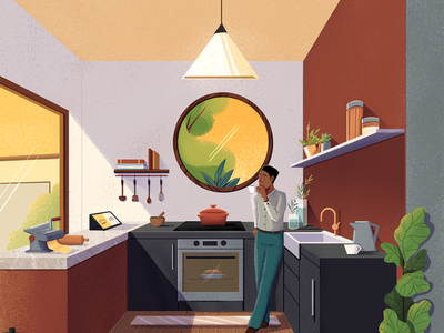 Guararapes - Kitchen back cover art architecture cover editorial editorial illustration illustration