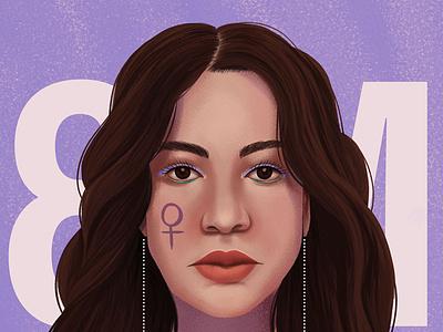 8M portrait illustration portrait art women editorial editorial illustration portrait illustration