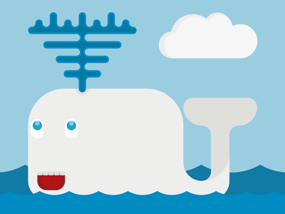 Val illustration cloud illustrator ocean splash swimming water whale waves