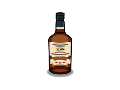 Edradour whisky drink alcohol whiskey icon bottle vector illustration edradour