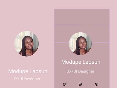 profile #dailyui profile design ui