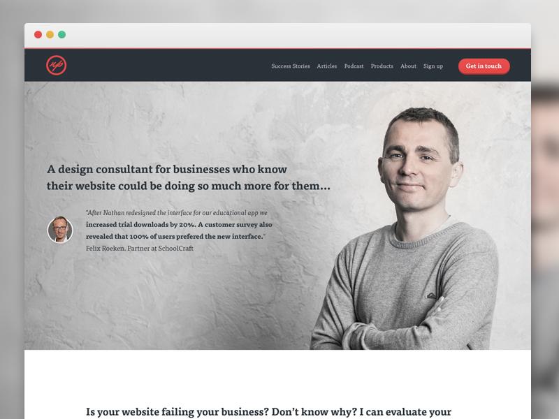 New portfolio! portfolio responsive landing icons webdesign flat testimonial hero