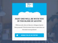 Twitter share modal twitter blue modal share social viral proposals signup