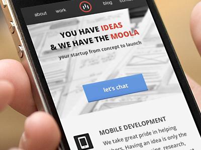 Mobile Landing Page V2 responsive iphone red button flat minimal landing web mobie