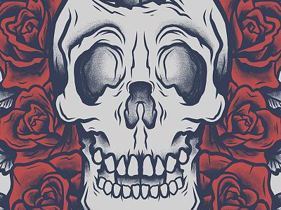 Skull & Roses tablet rose roses skull skulls illustration band merch warped tour 2015 august burns red