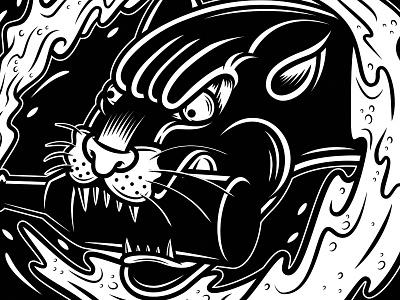 Beer Panther drunk split tattoo panther homebrew beer craft beer