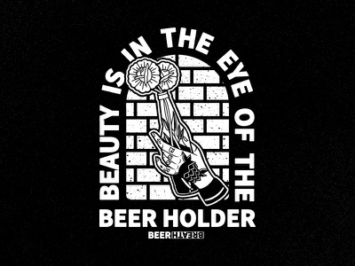 Beauty Is In The Eye Of The Beer Holder design illustration flash art flash tattoo tattoo flowers floral beer craft beer