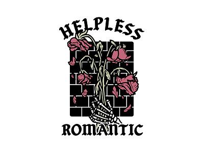 Helpless Romantic apple pencil ipad illustrator procreate illustration brick floral flowers dead roses skeleton helpless romantic