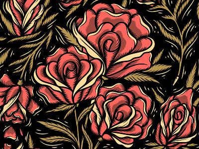 Roses Pattern flowers flower flat design affinity designer illustration floral design floral art florals pattern floral pattern rose floral roses