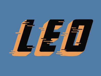 Leo - Name Sign lettering procreate illustration signpainting handlettering