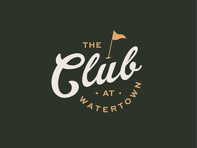 The Club at Watertown madison wisconsin typography logomark brand script vintage sports golfing club country logo branding golf