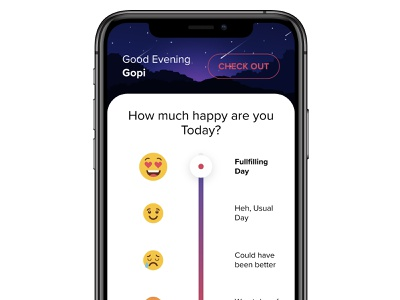 How's your day today? mobile app vertical slider slider today