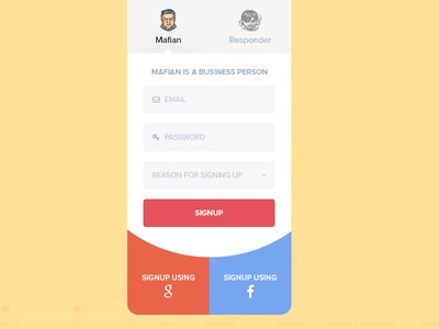 Startup Mafia Signup colors business material signup startupmafia.club startup mafia