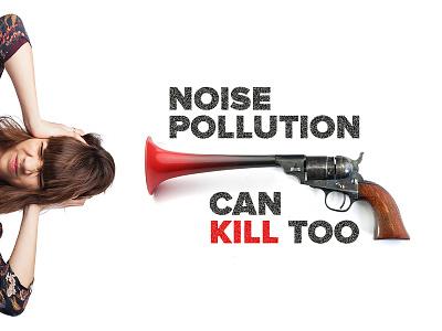 Noise Pollution poster 8020 design school 8020designschool.com stop noise pollution pollution noise